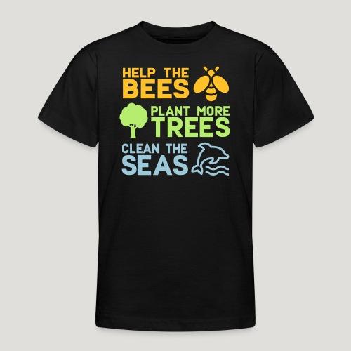 Help the Bees Plant More Trees Hilf den Bienen - Teenager T-Shirt