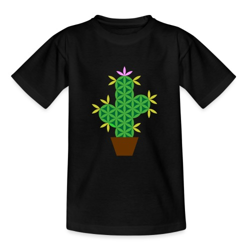 The Cactus Of Life - Sacred Plants - Teenage T-Shirt