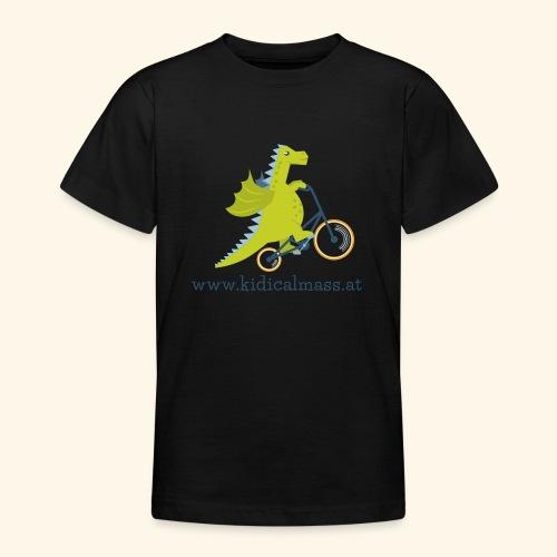 Musikdrache für hellen Hintergrund - Teenager T-Shirt