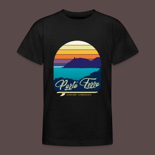 Porto Ferro - Vintage travel sunset - Maglietta per ragazzi