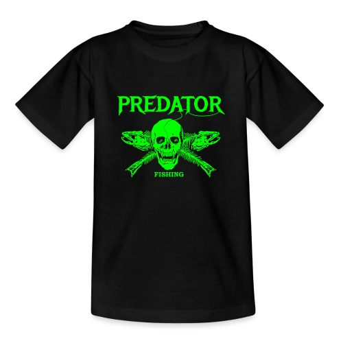Predator fishing green - Teenager T-Shirt
