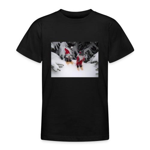 Joulutontut kilpasilla - Nuorten t-paita