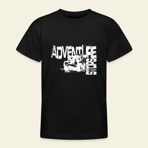Adventure white - Teenager-T-shirt
