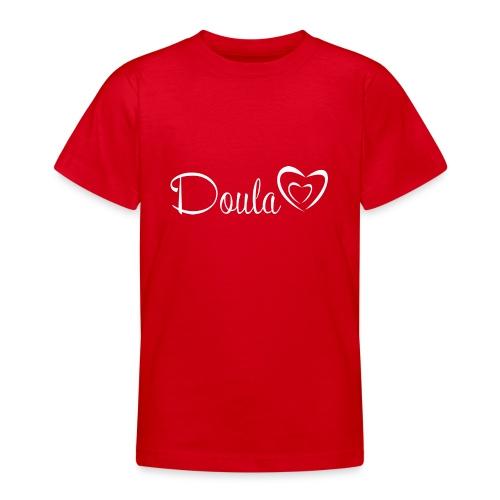doula sydämet valkoinen - Nuorten t-paita