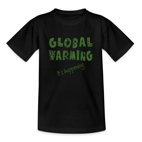 Opwarming van de aarde - global warming - Teenager T-shirt