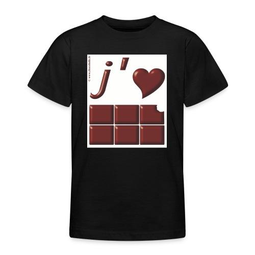 J aime le Chocolat - T-shirt Ado