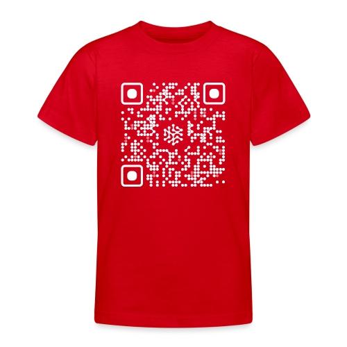 QR Safenetforum White - Teenage T-Shirt