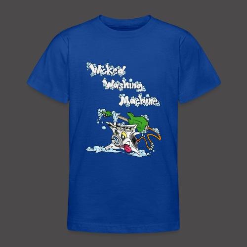 Wicked Washing Machine Cartoon and Logo - Teenager T-shirt
