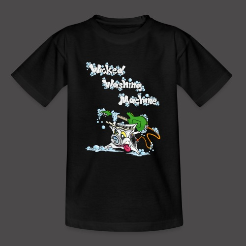 Wicked Washing Machine Cartoon and Logo - Teenager T-shirt