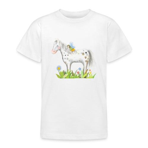 Fee. Das Pferd und die kleine Reiterin. - Teenager T-Shirt