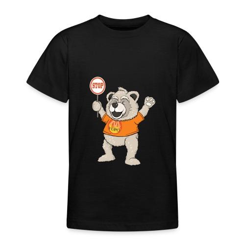 FUPO der Bär. Druckfarbe bunt - Teenager T-Shirt