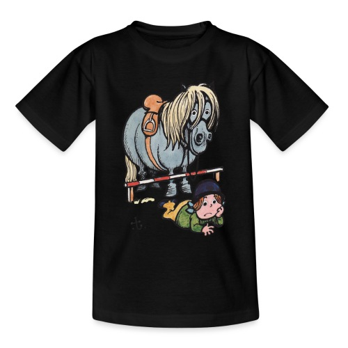 Thelwell Reiterin Liegt Hinter Dem Sprung - Teenager T-Shirt