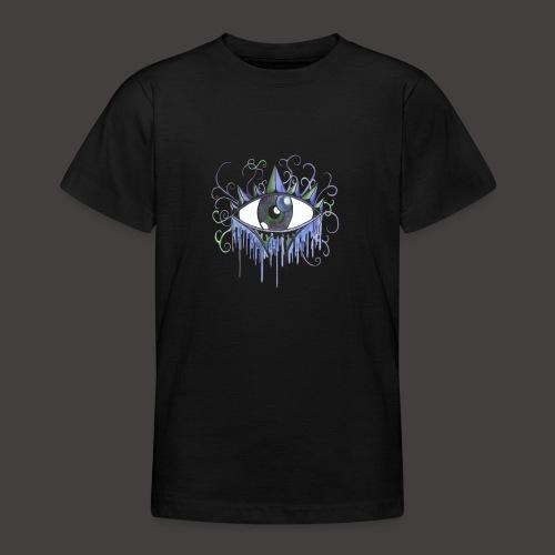 oeil vintage Bleu - T-shirt Ado