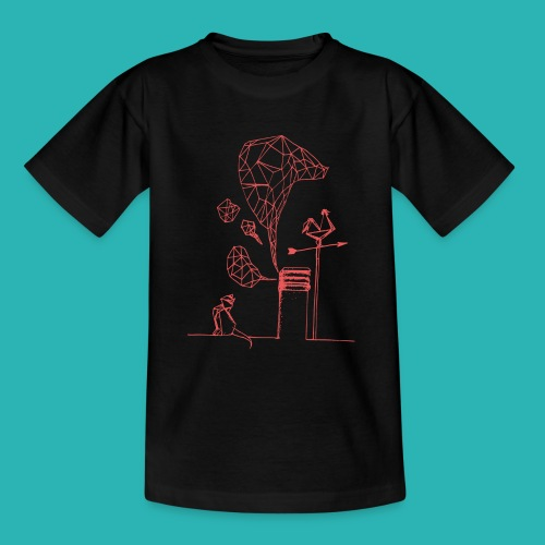 Carta_gatta_pink-png - Maglietta per ragazzi