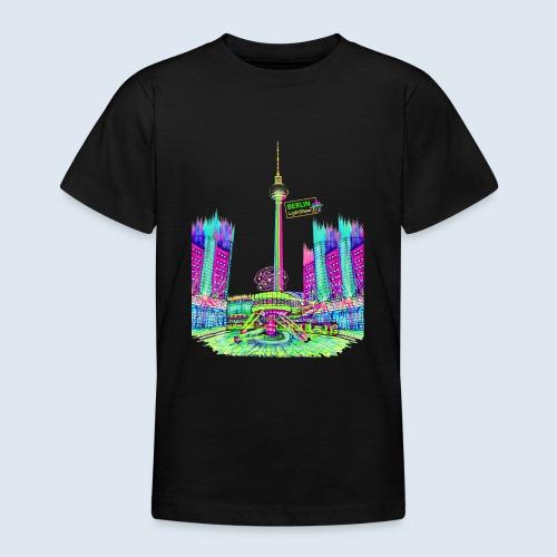 Berlin Alexanderplatz / BerlinLightShow /PopArt - Teenager T-Shirt