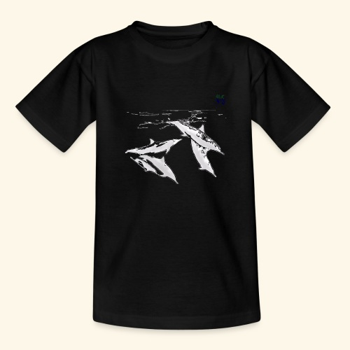5 Gray dolphins - Teenage T-Shirt