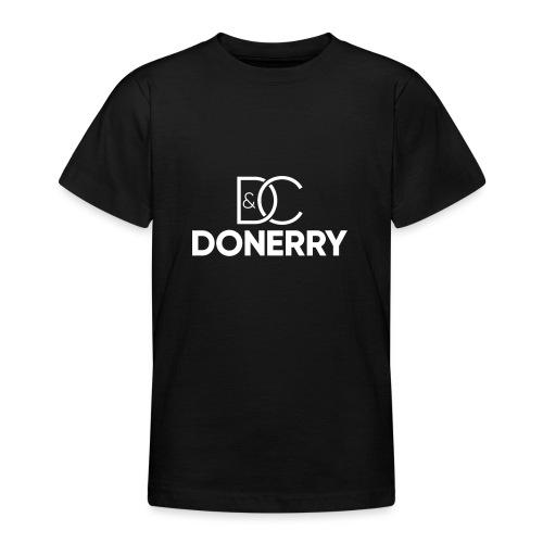 DONERRY New White Logo on Dark - Teenage T-Shirt