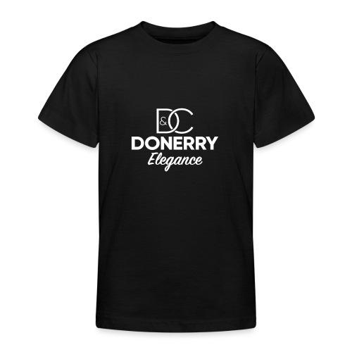 Donerry Elegance NEW White on Dark - Teenage T-Shirt