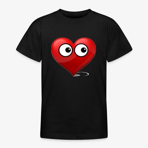 cœur avec yeux - T-shirt Ado