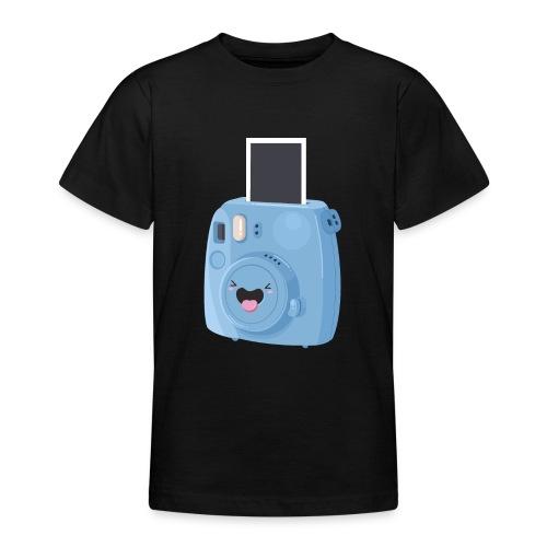 Appareil photo instantané bleu - T-shirt Ado