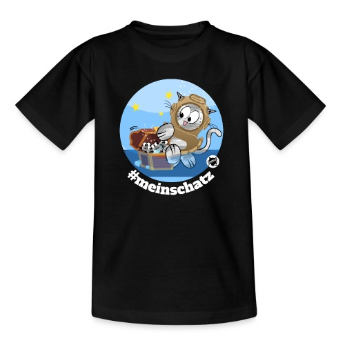 Astrokatze Wassermann - Teenager T-Shirt