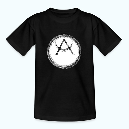 Mystic motif with sun and circle geometric - Teenage T-Shirt