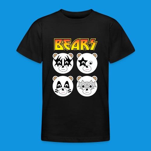 Kiss Bears square.png - Teenage T-Shirt