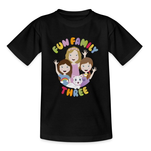 Fun Family Three Logo - Teenage T-Shirt