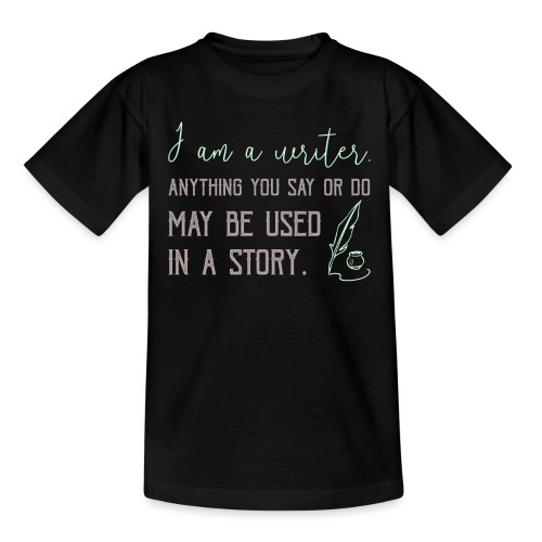 0267 History | Author | Writer | story - Teenage T-Shirt