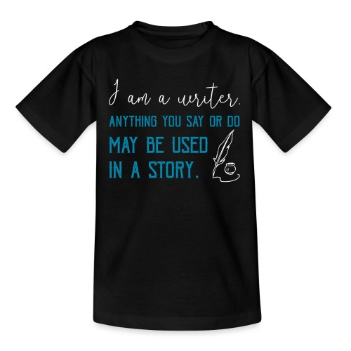 0268 Author | Writer | History | novel - Teenage T-Shirt