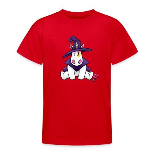 Einhorn als Hexe zu Halloween - Teenager T-Shirt