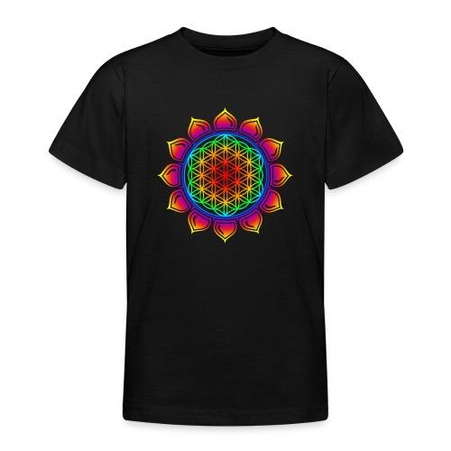 Blume des Lebens - Lotus - Flower of Life - Herz - Teenager T-Shirt