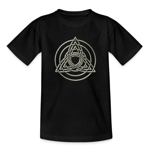 Triple Triquetra, Keltisches Symbol Dreifaltigkeit - Teenager T-Shirt