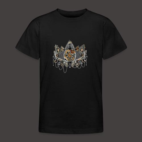 Oeil dentelle Orange Version Noir - T-shirt Ado