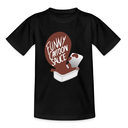 FUNNY CARTOON SAUCE - FEMALE - Teenage T-Shirt