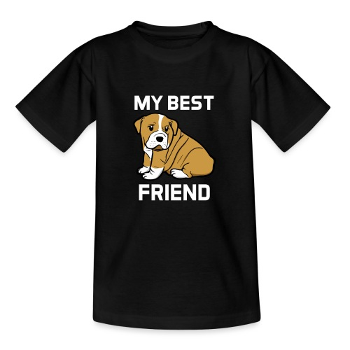 My Best Friend - Hundewelpen Spruch - Teenager T-Shirt