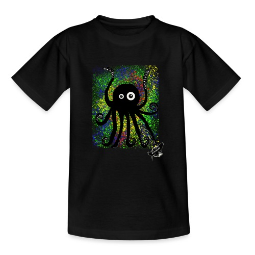 Sweet Octopus by BlackenedMoonArts, with logo - Teenager-T-shirt
