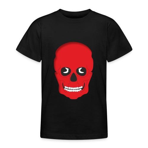 Calavera roja - Camiseta adolescente