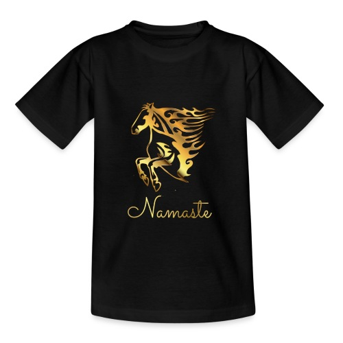 Namaste Horse On Fire - Teenager T-Shirt