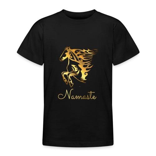 Namaste Horse On Fire - Teenager T-Shirt