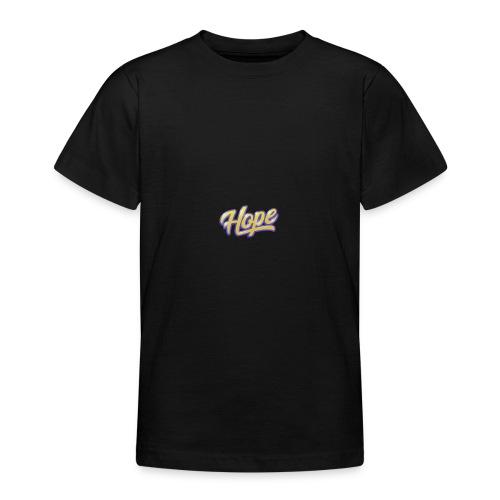 Hope lettering - Camiseta adolescente