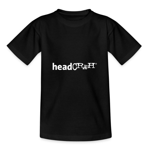 headCRASH Logo white - Teenager T-Shirt
