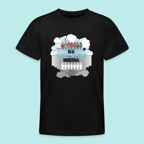 Real Education vs. Industrial Education - Camiseta adolescente