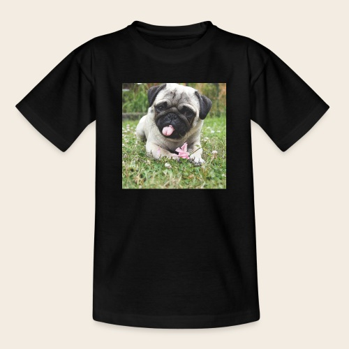 Mops Wiese - Teenager T-Shirt