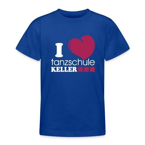 I love Tanzschule Keller - Teenager T-Shirt