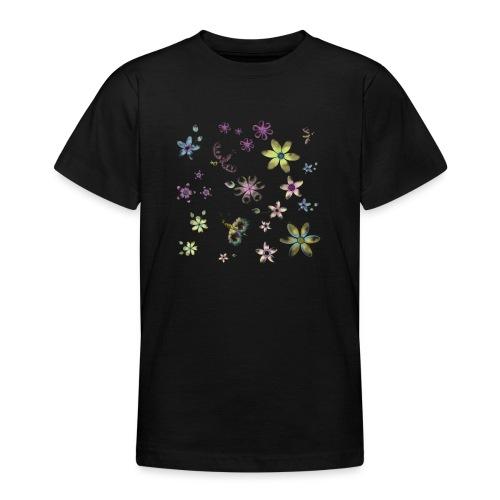 flowers and butterflies - Maglietta per ragazzi