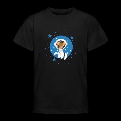 Kleiner Hund im Weltall - Teenager T-Shirt