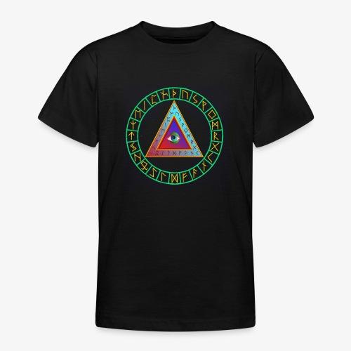 Runen im Kreis - Teenager T-Shirt