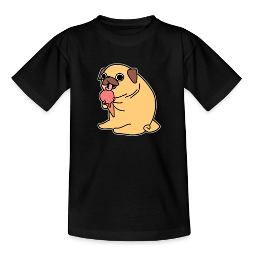 Mops mit Eis - Teenager T-Shirt