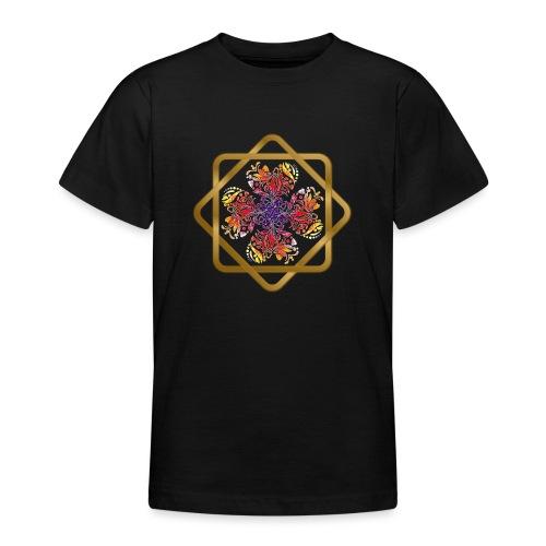 Kleeblatt aus Herzen Octagram - Glück Liebe Sicher - Teenager T-Shirt